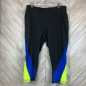 Livi active cropped leggings running tights 18/20